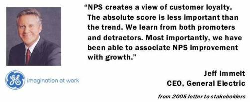 General Electric's Philosophy on Net Promoter Score (NPS)